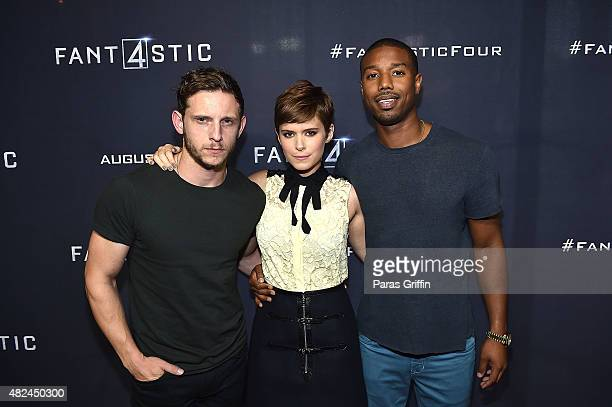 "Jamie Bell, Kate Mara and Michael B. Jordan attend ""Fantastic Four"" Atlanta VIP screening at Cinebistro on July 30, 2015 in Atlanta, Georgia."