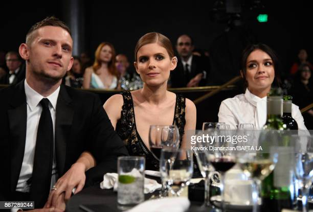 Jamie Bell Kate Mara and Olivia Cooke attend the 2017 AMD British Academy Britannia Awards Presented by American Airlines And Jaguar Land Rover at...