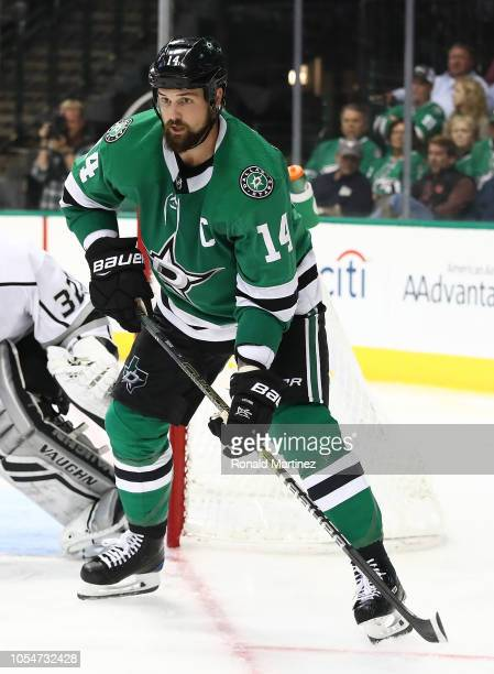 Jamie Benn of the Dallas Stars in the third period at American Airlines Center on October 23 2018 in Dallas Texas