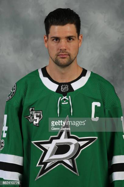 Jamie Benn of the Dallas Stars poses for his official headshot for the 20172018 season on September 14 2017 at the Dr Pepper Star Center in Frisco...