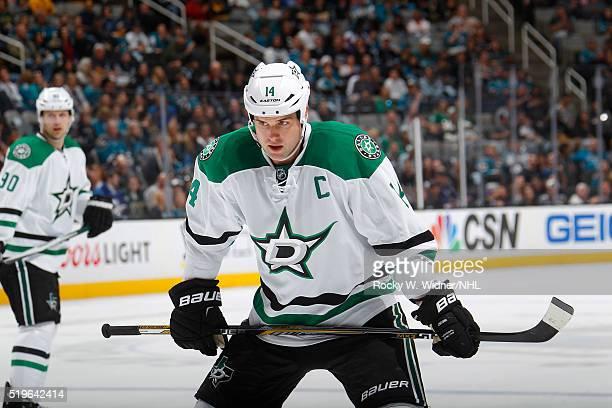 Jamie Benn of the Dallas Stars skates against the San Jose Sharks at SAP Center on March 26 2016 in San Jose California