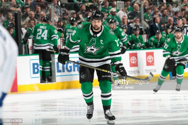 Jamie Benn of the Dallas Stars skates against the Tampa Bay Lightning at the American Airlines Center on January 15 2019 in Dallas Texas