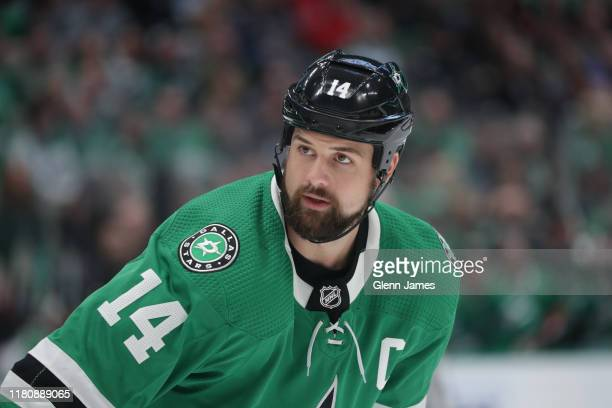 Jamie Benn of the Dallas Stars skates against the Washington Capitals at the American Airlines Center on October 12 2019 in Dallas Texas