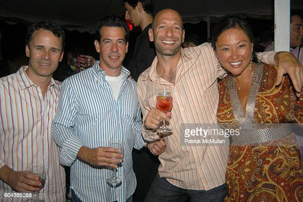Jamie Blonde Jamie Gertler Gary Ribbon and Linda Lee attend Cocktail Party With Steven Schonfeld Celebrating Mindy Greenblatt's Birthday at Watermill...