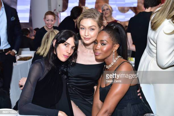 Jamie Bochert Gigi Hadid and Naomi Campbell attend the Aperture Gala 'Elements of Style' at IAC Building on October 30 2017 in New York City