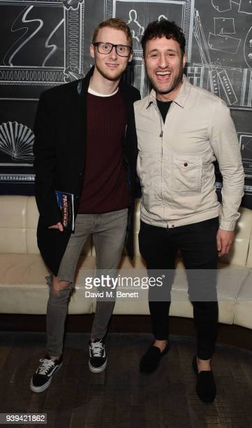 Jamie Borthwick and Antony Costa attend the Gala Night after party for 'All Or Nothing The Mod Musical' at Foundation Bar on March 28 2018 in London...