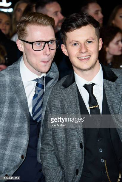 Jamie Borthwick and Harry Reid attend the National Television Awards 2018 at The O2 Arena on January 23 2018 in London England