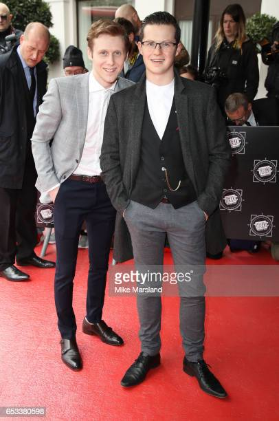 Jamie Borthwick and Harry Reid attend the TRIC Awards 2017 on March 14 2017 in London United Kingdom