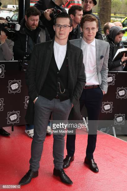 Jamie Borthwick and Harry Reid attends the TRIC Awards 2017 on March 14 2017 in London United Kingdom