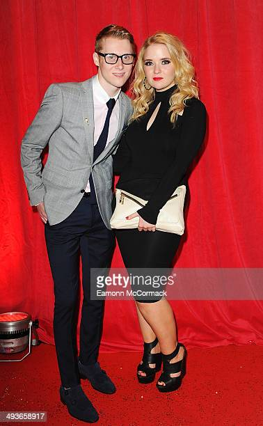 Jamie Borthwick and Lorna Fitzgerald attend the British Soap Awards at Hackney Empire on May 24 2014 in London England