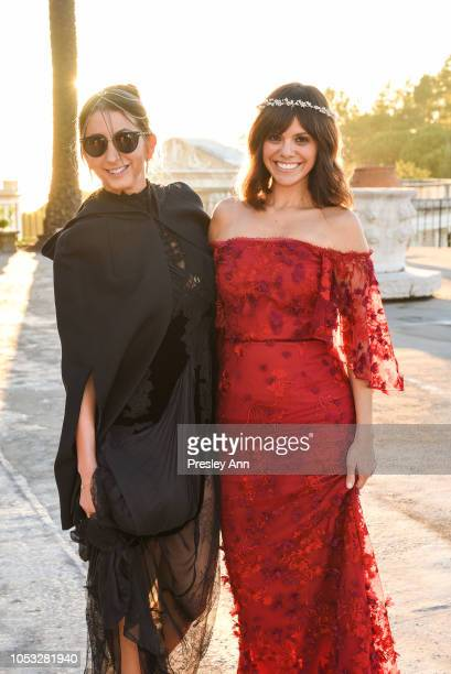 Jamie Braverman and Michelle Randolph attend Hearst Castle Preservation Foundation Hollywood Royalty Dinner at Hearst Castle on September 28 2018 in...
