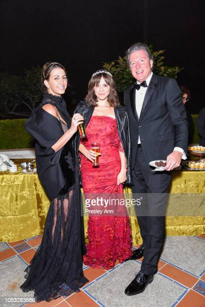 Jamie Braverman Michelle Randolph and Charles Conlan attend Hearst Castle Preservation Foundation Hollywood Royalty Dinner at Hearst Castle on...