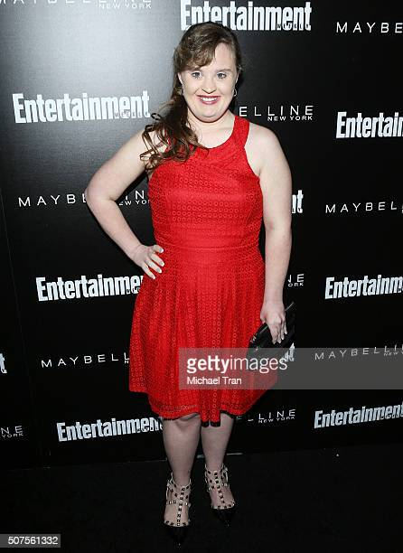 Jamie Brewer arrives at Entertainment Weekly's celebration honoring the 2016 SAG Awards nominees held at Chateau Marmont on January 29 2016 in Los...