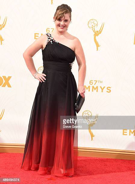 Jamie Brewer arrives at the 67th Annual Primetime Emmy Awards at Microsoft Theater on September 20 2015 in Los Angeles California