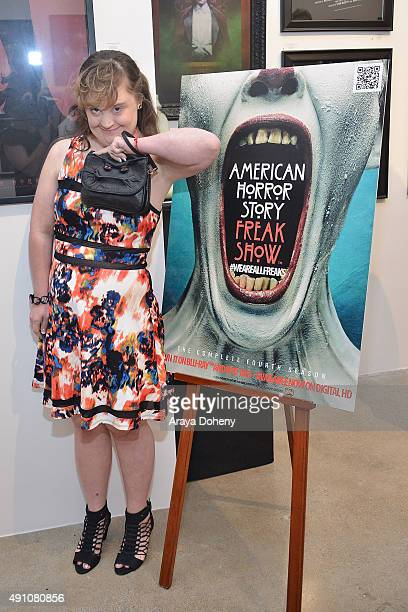 Jamie Brewer attends the Hero Complex Gallery and Fox Home Entertainment host 'American Horror StoryFreakshow' Fan Art Gallery Opening Night...