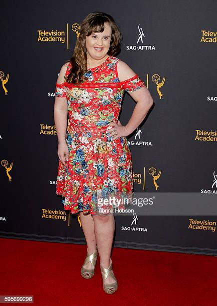 Jamie Brewer attends the Television Academy and SAGAFTRA's 4th annual Dynamic and Diverse Celebration at Saban Media Center on August 24 2016 in...
