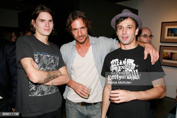 Jamie Burke Thomas Hayo and Dean Dodos attend SAM HASKINS Fashion Etcetera at Milk Studios Gallery on September 24 2009 in New York City
