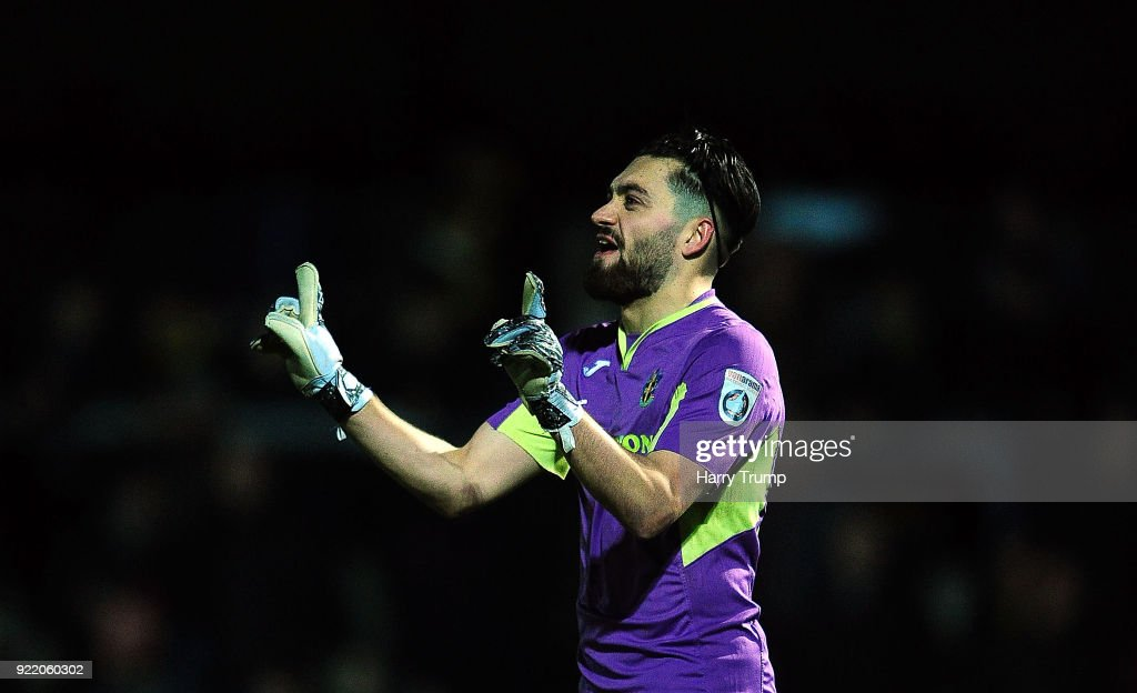 Jamie Butler of Sutton United during the Vanarama National League match between Torquay United and Sutton United at Plainmoor on February 20, 2018 in Torquay, England.