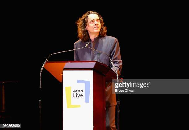 Jamie Byng performs in the New York debut of the hit show 'Letters Live' at Town Hall on May 19 2018 in New York City