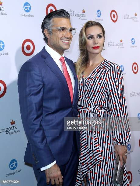 Jamie Camil and wife Heidi Balvanera attend the Eva Longoria foundation annual dinner at Four Seasons Hotel Los Angeles at Beverly Hills on October...