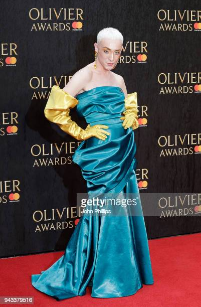 Jamie Campbell attends The Olivier Awards with Mastercard at Royal Albert Hall on April 8 2018 in London England