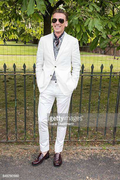 Jamie Campbell Bower arrives for the Serpentine Summer Party at The Serpentine Gallery on July 6 2016 in London England