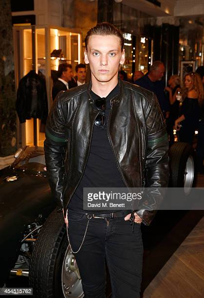 Jamie Campbell Bower attends a cocktail reception to celebrate the new Belstaff by Goodwood racing jacket capsule collection at Belstaff House New...