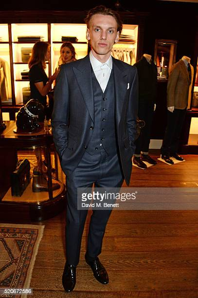 Jamie Campbell Bower attends PORT Magazine's 5th anniversary dinner with dunhill London at at Alfred Dunhill Bourdon House on April 12 2016 in London...