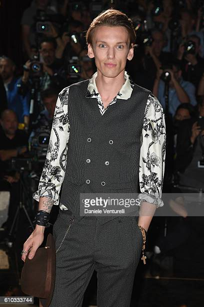 Jamie Campbell Bower attends the Dolce And Gabbana show during Milan Fashion Week Spring/Summer 2017 on September 25 2016 in Milan Italy