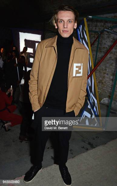 Jamie Campbell Bower attends the FENDI FF Reloaded Experience on April 12 2018 in London England