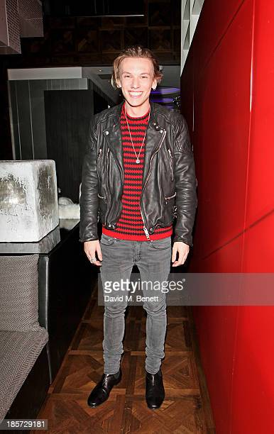 Jamie Campbell Bower attends the launch of the W Republic of Verbier takeover at W London Leicester Square on October 24 2013 in London England