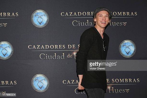 Jamie Campbell Bower attends 'The Mortal Instruments City of Bones' Mexico City photocall at St Regis Hotel on August 26 2013 in Mexico City Mexico