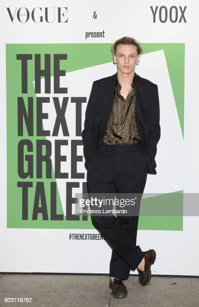 Jamie Campbell Bower attends the 'The Next Green Talents' event during Milan Fashion Week Fall/Winter 2018/19 on February 22 2018 in Milan Italy