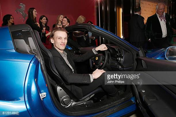 Jamie Campbell Bower attends the UK launch of the Ferrari 488 Spider at Watches of Switzerland on February 25 2016 in London England