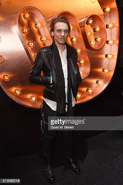 62720ddd5b Jamie Campbell Bower attends the Warner Music Group Ciroc Vodka Brit Awards  after party at Freemasons