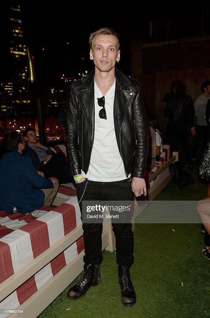 Jamie Campbell Bower attends the Warner Summer Party in association with British GQ at Shoreditch House on July 8, 2015 in London, England.