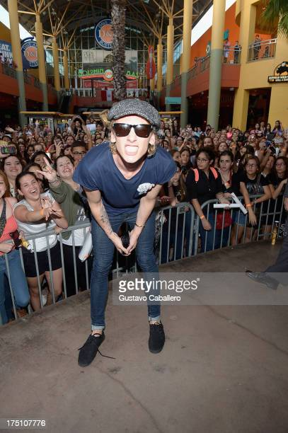 Jamie Campbell Bower of 'The Mortal Instruments' at Dolphin Mall on July 31 2013 in Miami Florida
