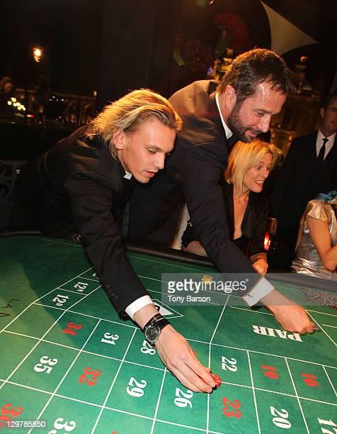 Jamie CampbellBower and James Purefoy attend Roger Dubuis Soiree Monegasque at Hotel de Paris on October 20 2011 in Monaco Monaco