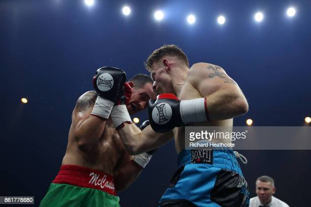 Jamie Carley in action against Kevin McCauley in their Welterweight contest at SSE Arena on October 14 2017 in London England