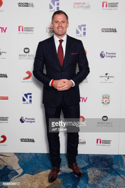 Jamie Carragher attends the Legends of Football fundraiser at The Grosvenor House Hotel on October 2 2017 in London England The annual footballthemed...