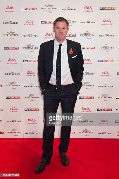Jamie Carragher attends the The Sunday Times and Sky Sports Sportswomen of the Year Awards in association with Vitality on November 6 2015 in London...