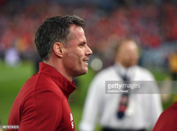 Jamie Carragher of Liverpool during the International Friendly match between Sydney FC and Liverpool FC at ANZ Stadium on May 24 2017 in Sydney...