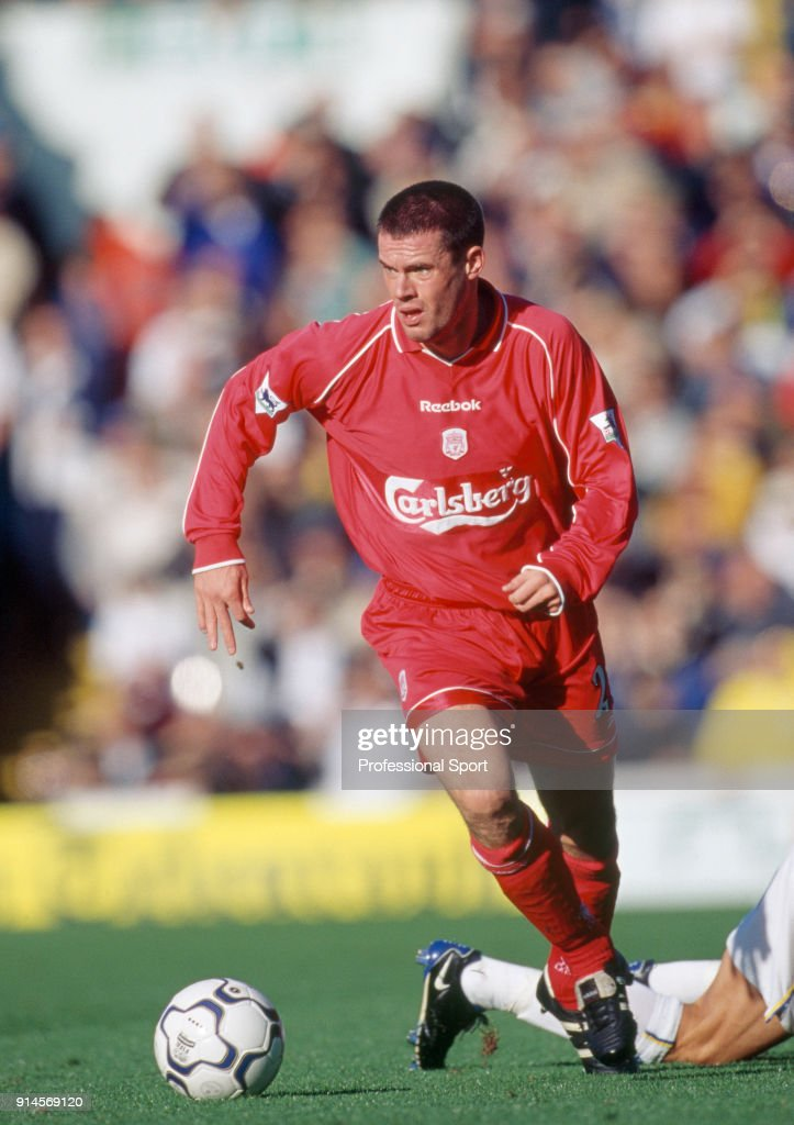 Jamie Carragher Of Liverpool In Action During The Fa Carling Premiership Match Between Leeds United And