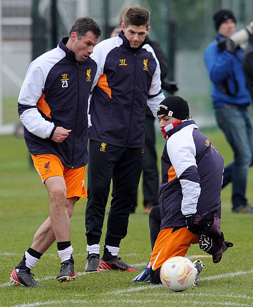 Luis Suarez And Steven Gerrard Reunited: Liverpool Training And Press Conference Photos And Images