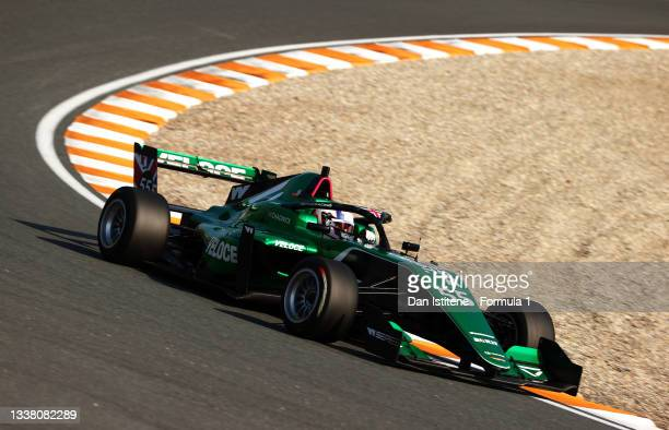 Jamie Chadwick of Great Britain and Veloce Racing drives during qualifying ahead of W Series Round 6 at Circuit Zandvoort on September 03, 2021 in...
