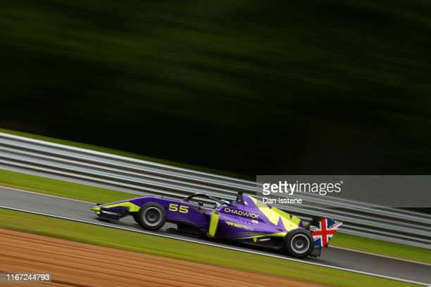 Jamie Chadwick of Great Britain drives a Tatuus F3 T-318 during practice for the sixth and final round of the W Series at Brands Hatch on August 10,...