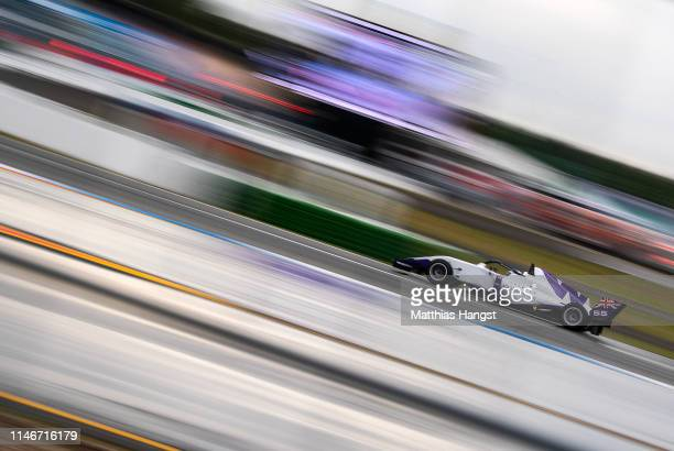 Jamie Chadwick of Great Britain drives during a training session prior to the first race of the W Series at Hockenheimring on May 03, 2019 in...