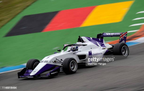 Jamie Chadwick of Great Britain drives during first race of the W Series at Hockenheimring on May 04, 2019 in Hockenheim, Germany. W Series aims to...