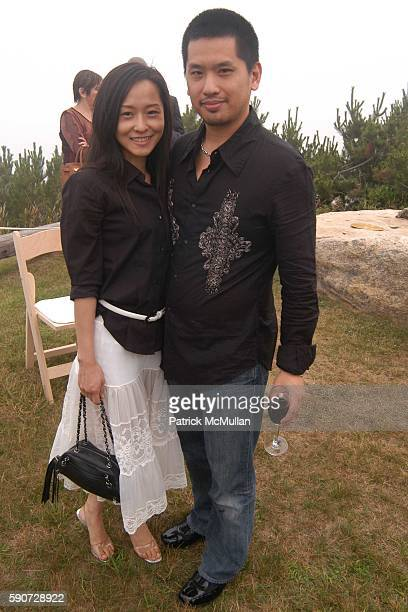 Jamie Chen and Howard Huang attend Junko Yoshioka Presents Her Evening Wear Collection at Peter and Nejma Beard Residence on July 16 2005 in Montauk...