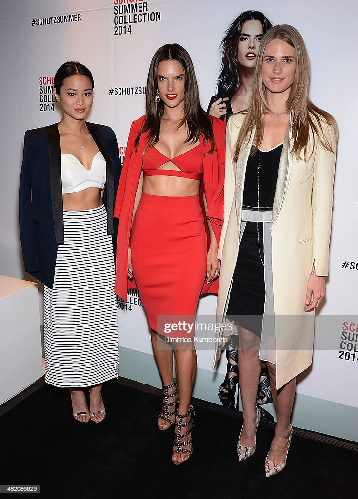 Jamie Chung, Alessandra Ambrosio and Julie Henderson attend the Schutz Summer 2014 Collection Launch at Schutz on April 2, 2014 in New York City.